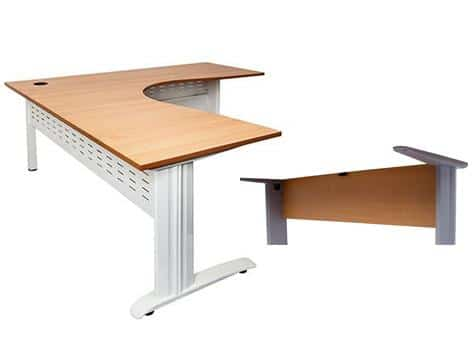 folkstone corner workstation white