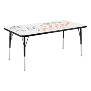 activity table with whiteboard top