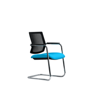 Black & Blue Breathe Side Chairs for office and home