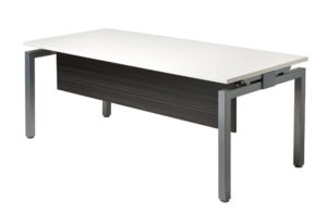 Linear desk with modesty
