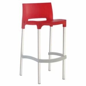 vita cafe stool red