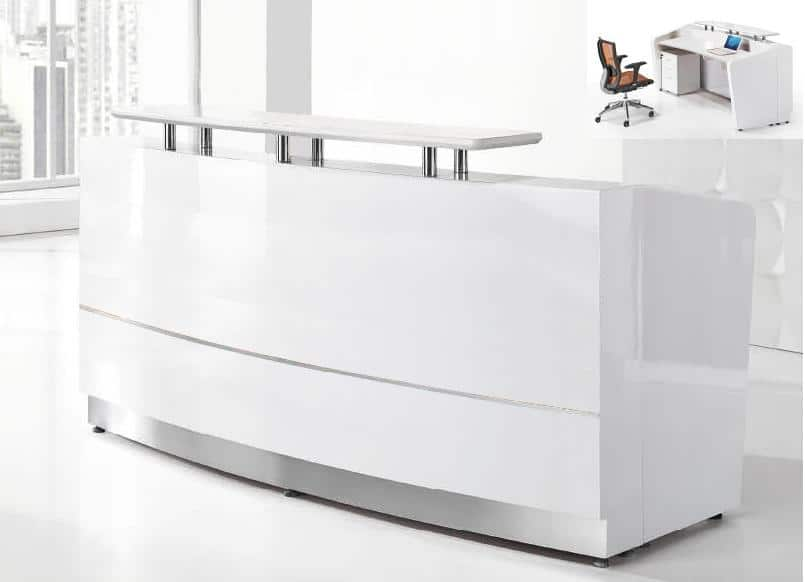 nexus curve reception desk 2200
