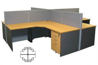 Beta 4 person workstation
