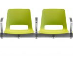 unica beam 4 seat arms each chair - PP