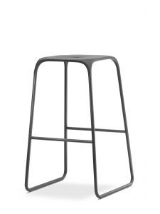 Trapeze Stool Grey