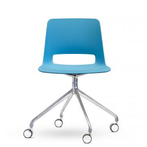 Unica Office Chair - Swivel Base - bright blue