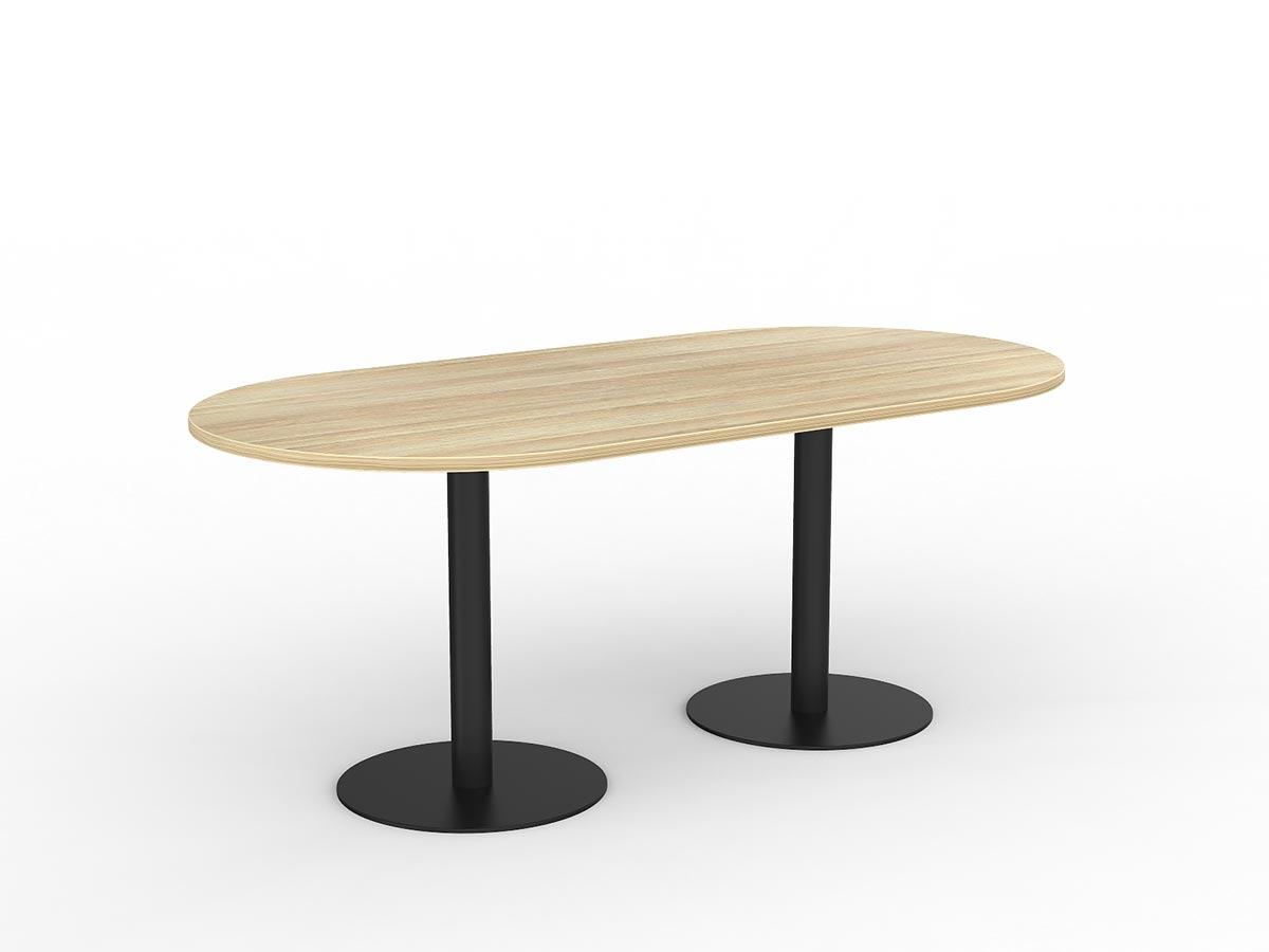Picture of: Buy A Ekosystem Pedestal Oval Meeting Table Online Boardroom Tables Conference Tables Meeting Tables Delivery Direct Office Furniture
