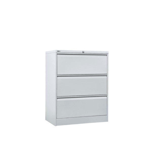 Silver Grey GO Lateral 3 Drawer Filing Cabinet for office and home