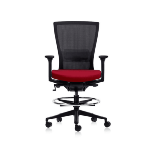 Red Seat Drafting Chair With Arms for home and office in Australia