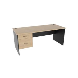 1800x750x720h_1P-1F_Momentum-Office-Desk-with-drawer_oak-graphite