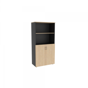 900w 450d x 1800h_credenza_closed_oak graphite