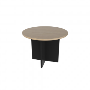Momentum coffee table round_graphite oak
